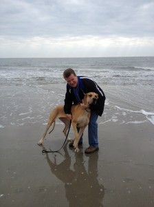 Maggie & Earl Folly Beach Jan 1 2013